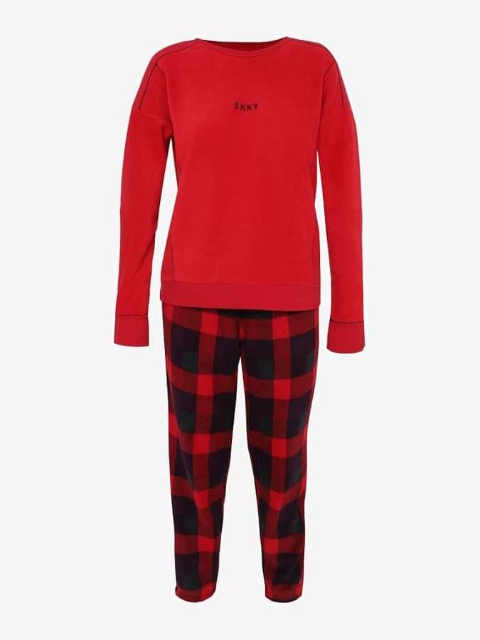 DKNY - Γυναικεία πυτζάμα με καρο παντελόνι  2b0c8f0a029
